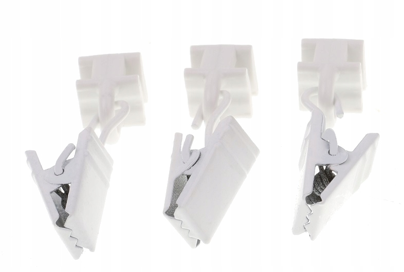 SLIDE WITH A CLIP FOR A CURTAIN ALUMINUM RAIL 10 PCS