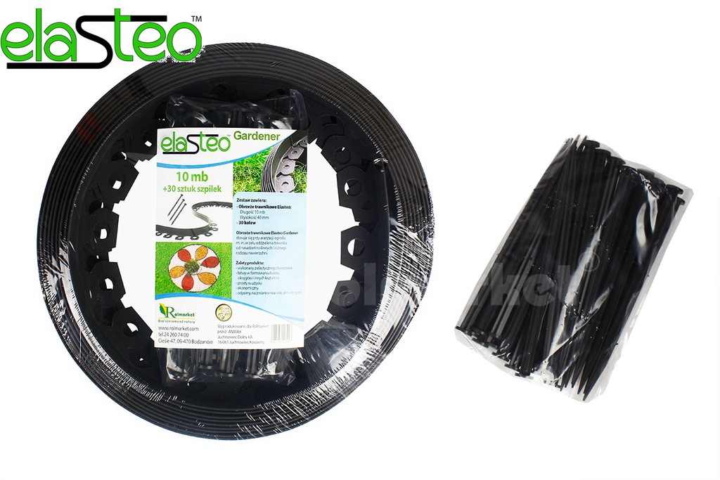 ECO EDGE FOR GRASS BORD FOR LAWN 10m 30 ANCHORS