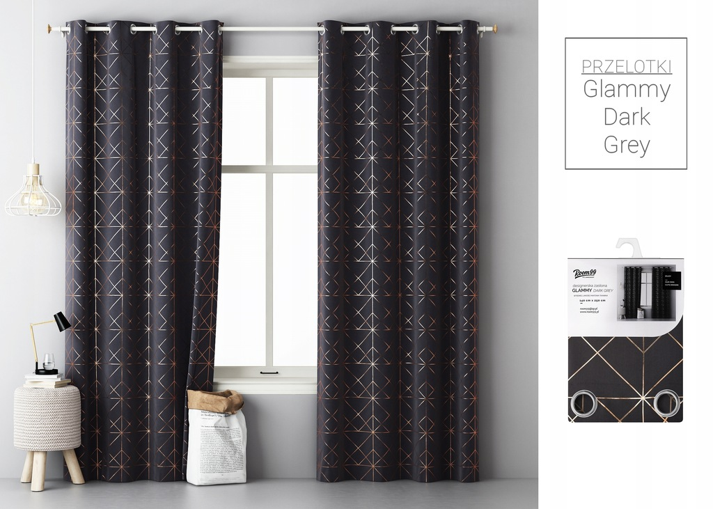 DESIGNER CURTAIN READY ON GRILLES 140x250