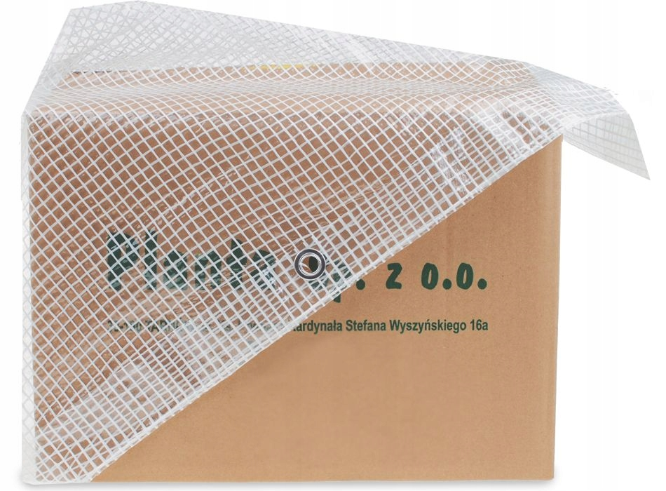 TRANSPARENT REINFORCED 3x3 Tarpaulin 100g WHITE