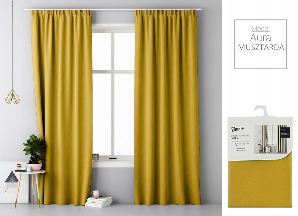 MATTE CURTAINS READY FOR FROGS 140X250 ON TAPE
