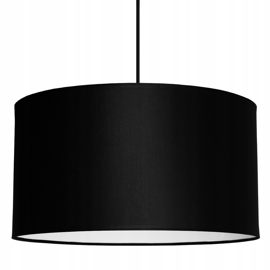 Hanging ceiling lamp with a large black LED lampshade 35cm
