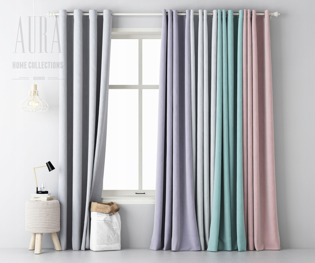 MATTE CURTAIN CURTAINS ON WHEELS 140X250 COLORS
