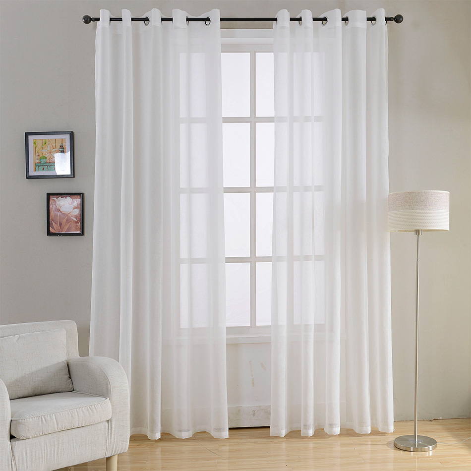 CURTAIN VOILE CURTAIN READY 145x250 with grommets