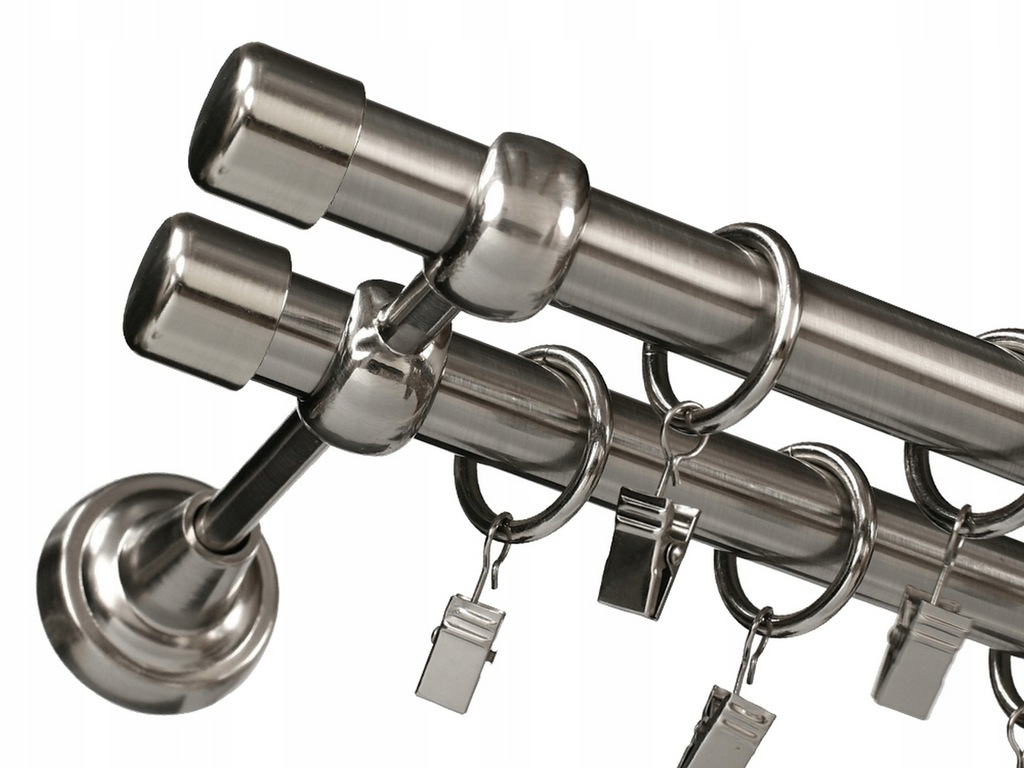 CURTAIN RODS SIMPLE CURTAIN DOUBLE METAL 19 + 19/260