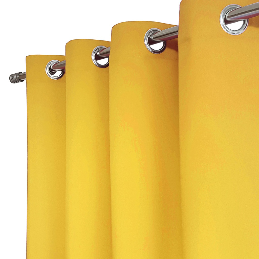 Ready curtains HEAVEN 140x250 GUIDES yellow
