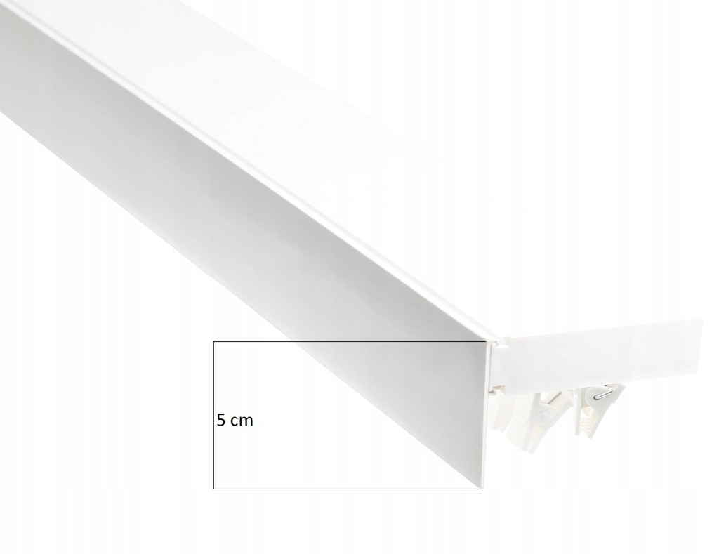 PVC CEILING RAIL WITH CURTAIN COVER 250 CM COLORS
