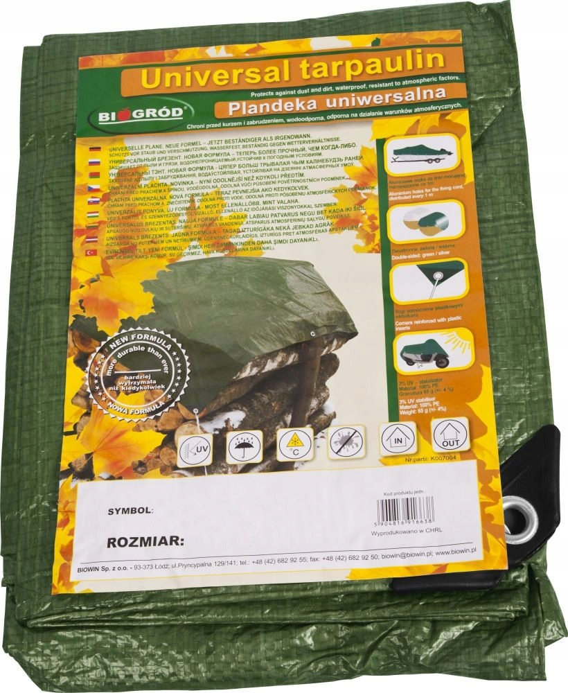 STRONG THICK FROST-RESISTANT Tarpaulin 4x5 5x4