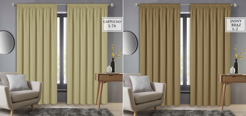 Ready Frog Curtains 145x250 Tape Curtain