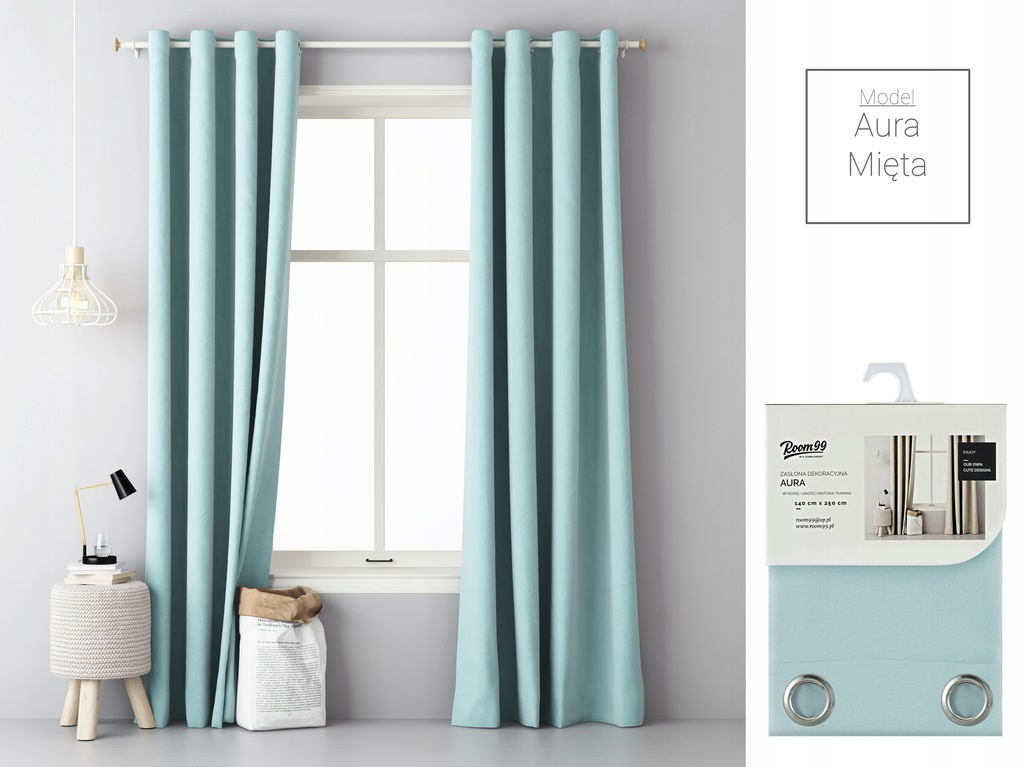 MATTE CURTAINS, READY WITH GRILLES 140x250 CASTERS