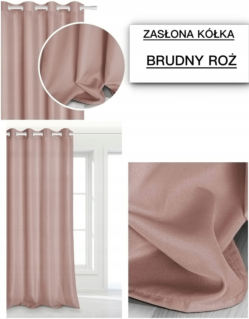 MATTE CURTAINS, READY 140x250, WITH WHEEL GUIDES