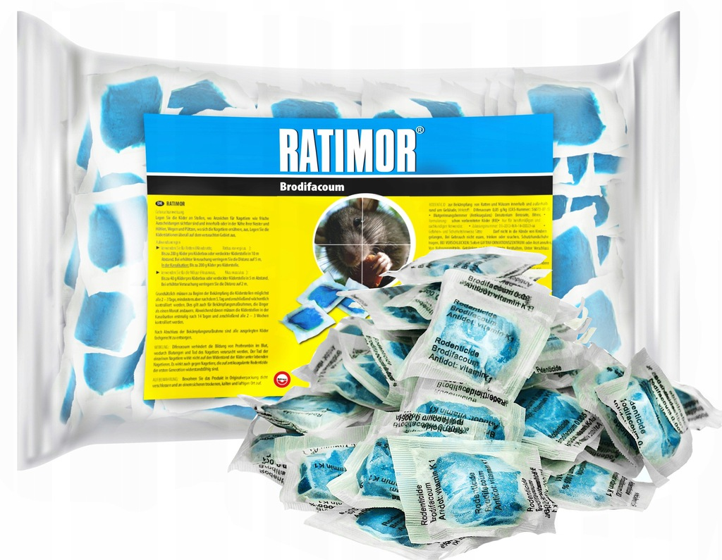 STRONG POISON PASTE FOR MICE AND RATS RATIMOR 3KG