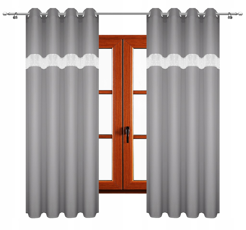 THICK MATTE CURTAINS READY ZIRCONIES 140x250 CASTERS