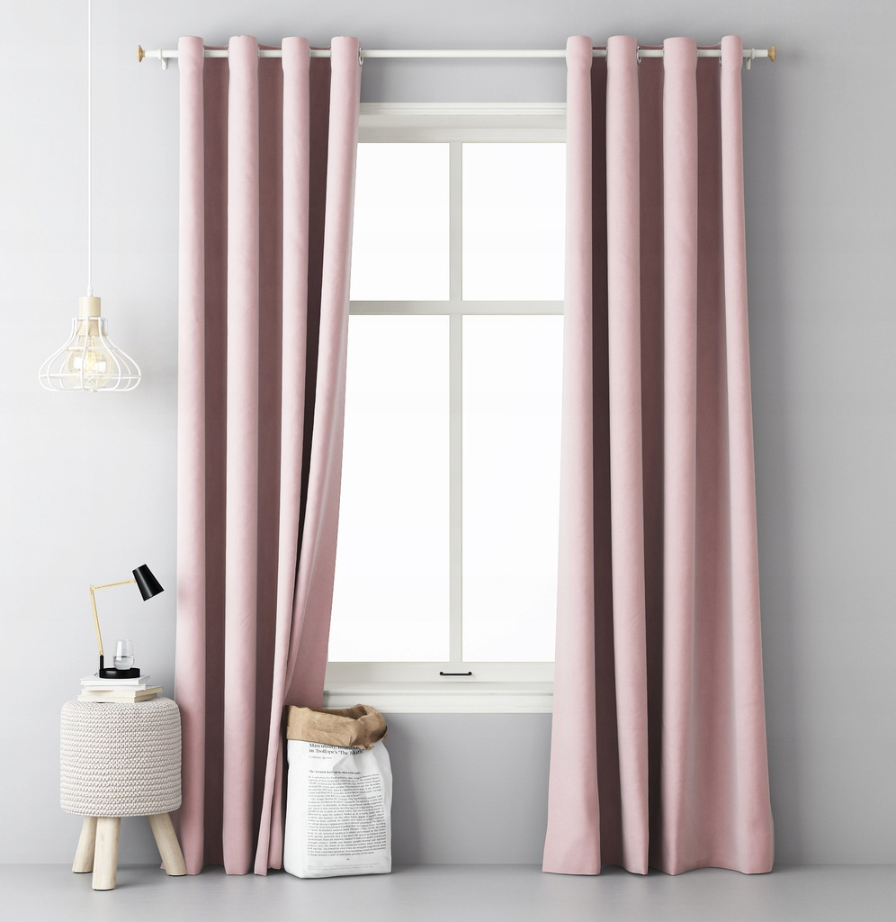 READY CURTAINS ON GRILLES 140x250 POWDER PINK