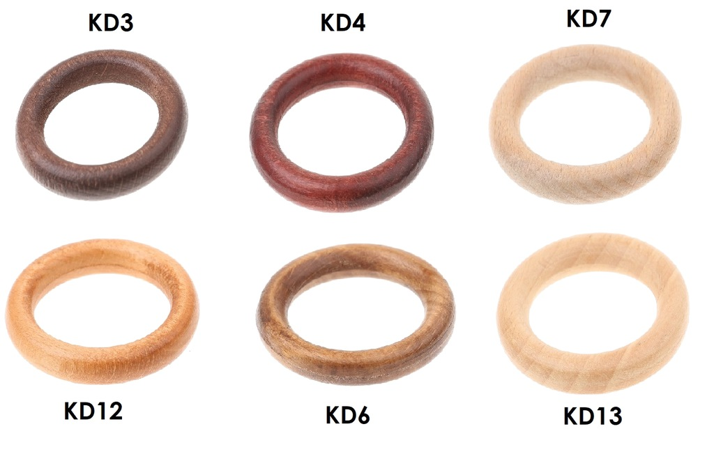 WOODEN WHEELS FOR CURTAIN ROD 50 PCS CHANCE