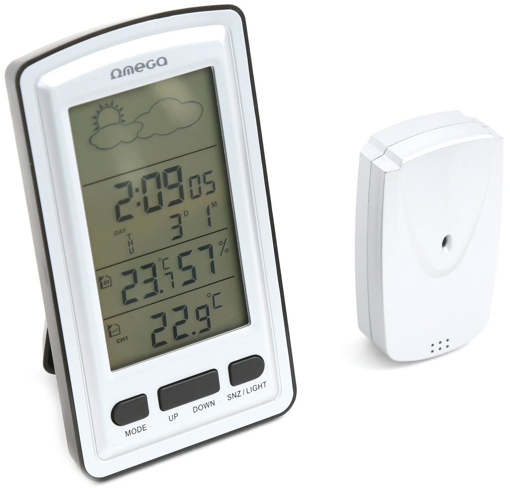 Wireless weather station THERMOMETER HYGROMETER CLOCK