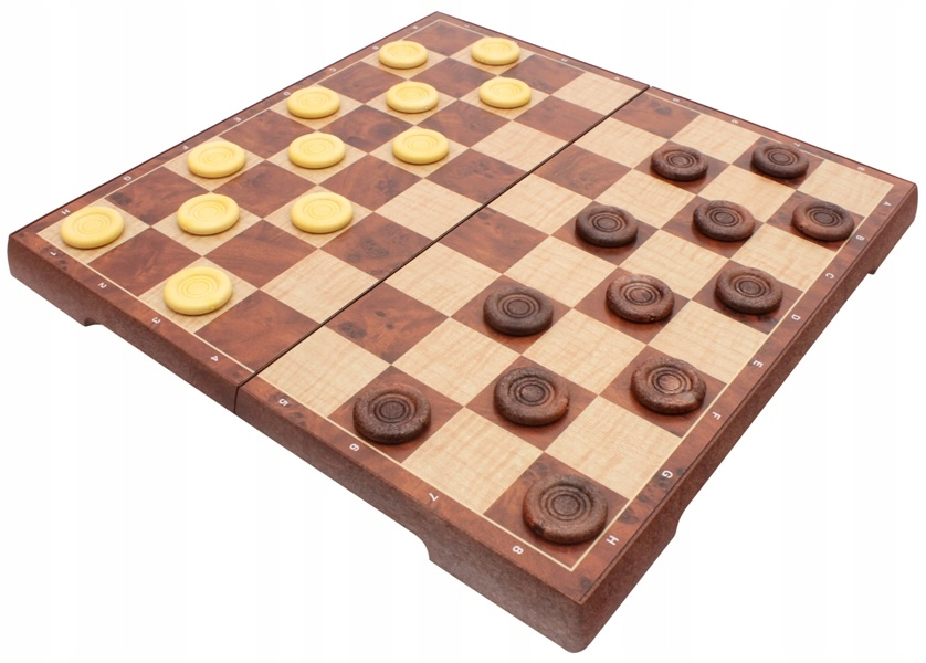 Classic Big Magnetic Checkers 2in1