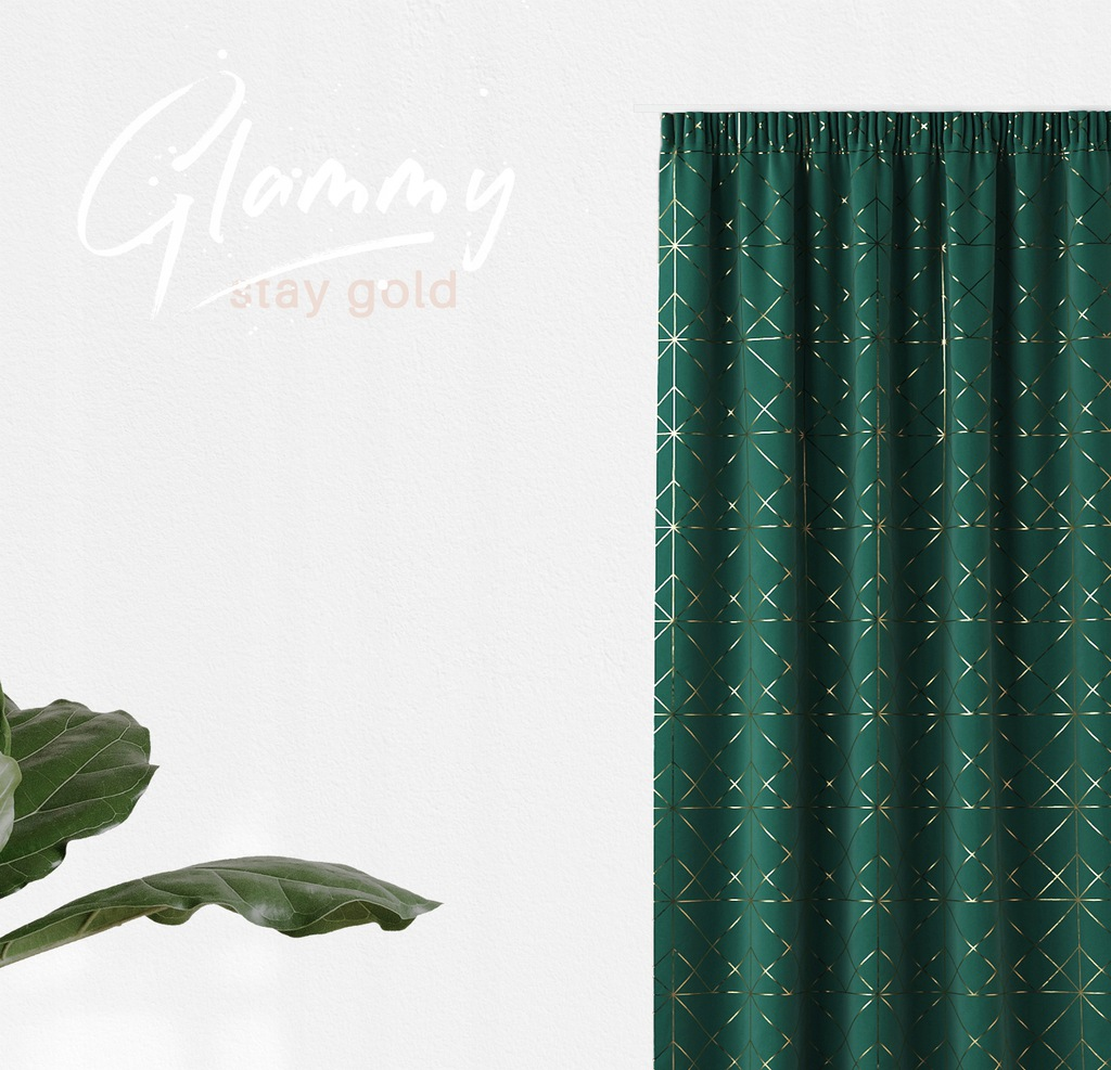 DESIGNER CURTAIN READY ON TAPE 140x250 FROGS