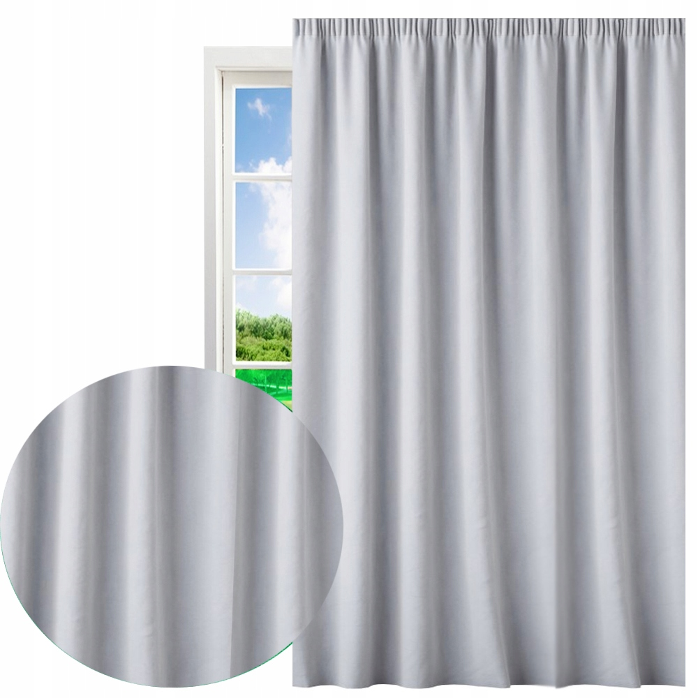 Ready matte curtains for frogs 145x250 on tape
