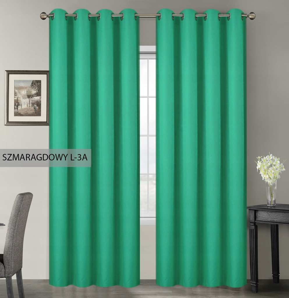 MATTE CURTAINS, READY WITH GRILLES 145x250 CASTERS