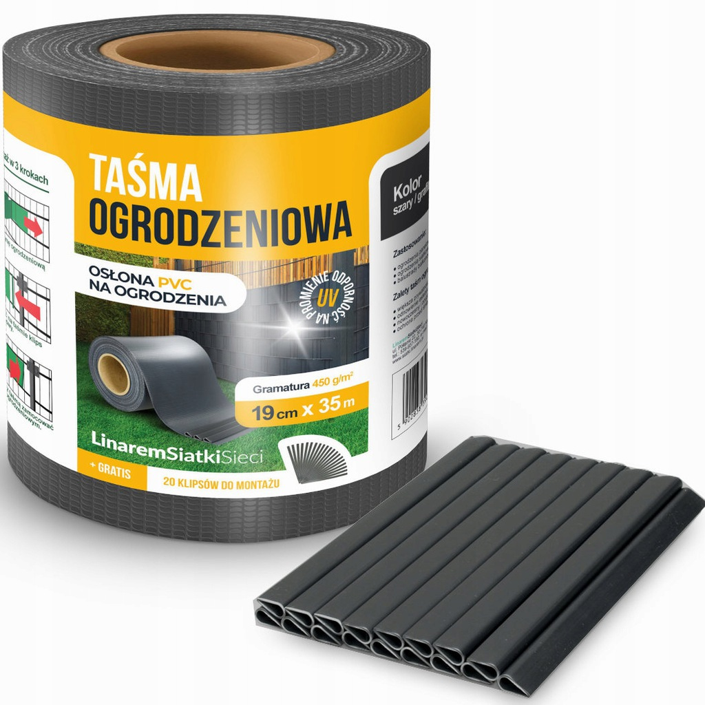 FENCE TAPE 190x35m FENCE FENCE GRAPHITE