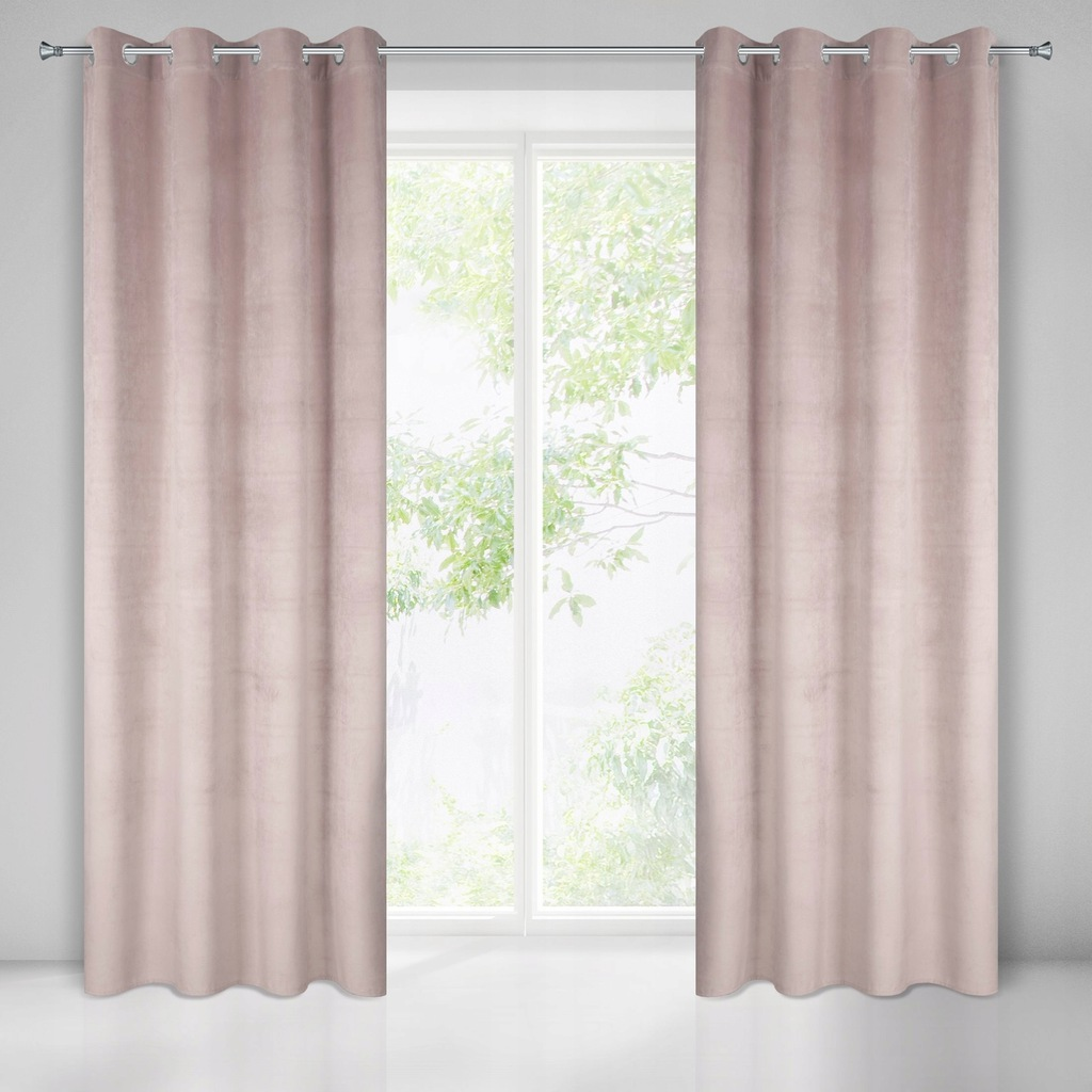 READY CURTAINS ON VELUR BLACKING GUARDS