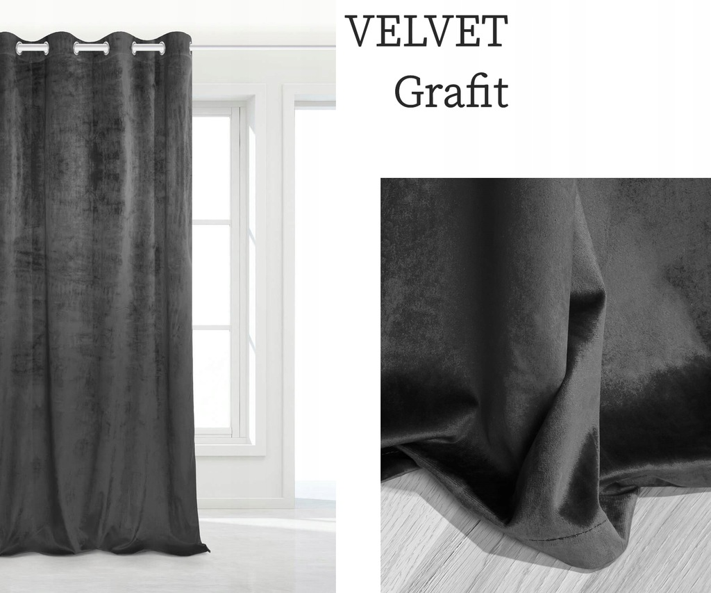 READY CURTAINS 140X250 THICK BLACKING VELVES