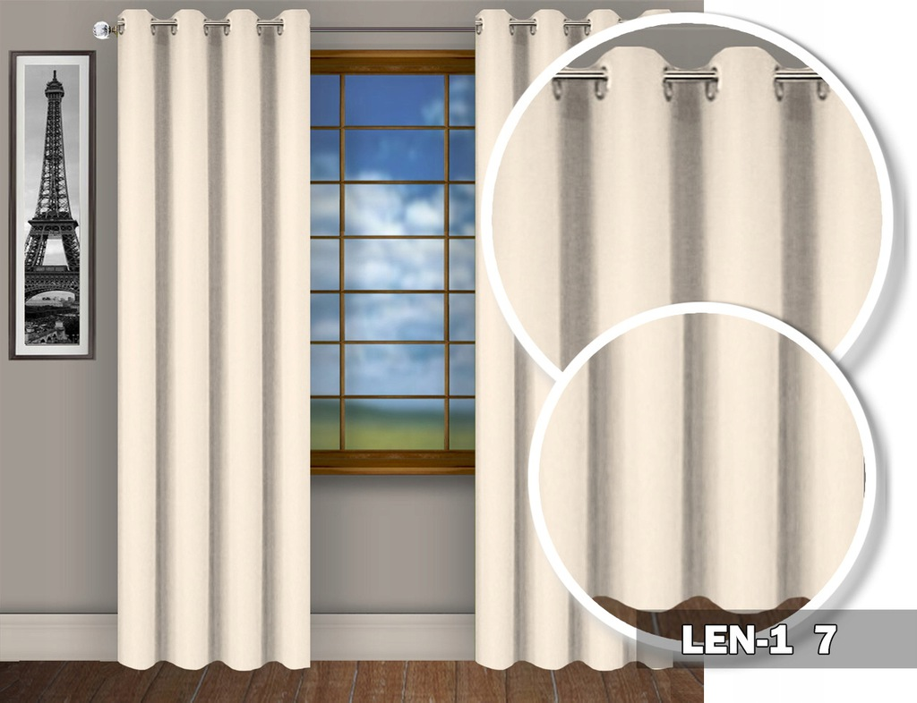 READY MAT CURTAINS WITH GRILLES 230X145 CASTERS