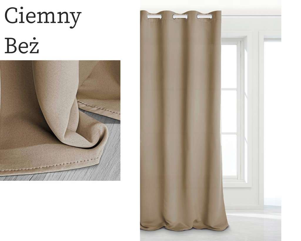 READY CURTAINS THICK MATTE 140X250 BLACKOUT