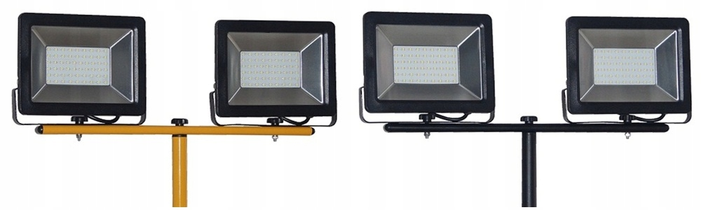 LED FLOODLIGHT 2x50W ON A TRIPOD HALOGEN CABLE