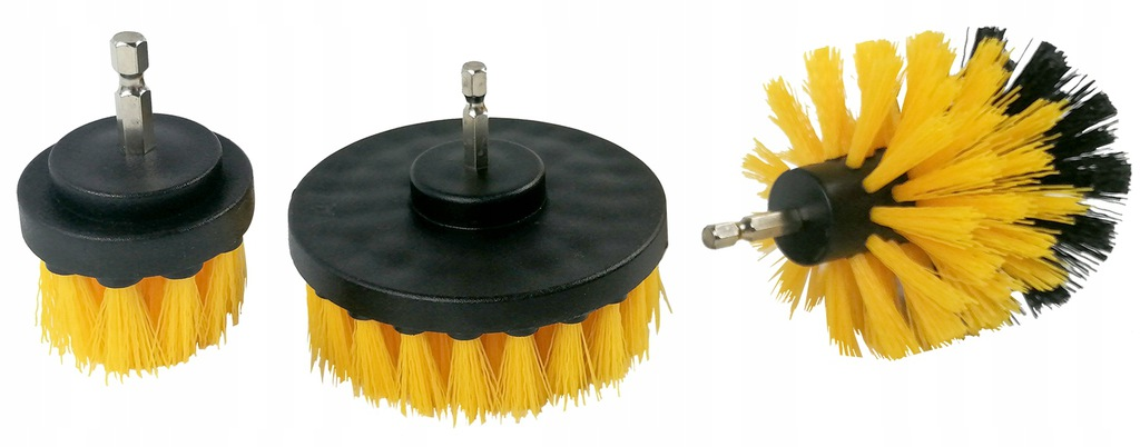 CLEANING BRUSHES FOR DRILL 1/4 -3 x BRUSH